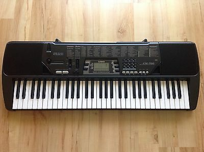 Casio CTK-700 61-Key Portable Keyboard with Mic Input Adult Children Beginners