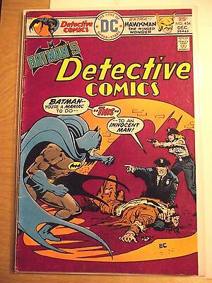 Batman's Detective Comics #454 Hawkman appears 1975 VG