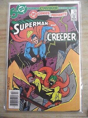 DC Comics Presents #88 Superman and The Creeper Crisis Cross-Over Newsstand FN-