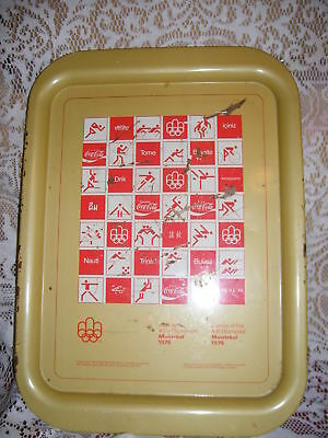 """15"""" x 10.5"""" Games of the XXI Montreal Olympics 1976 Coca Cola Tray"""