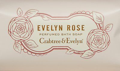 Evelyn Rose Perfumed Bath Soap, Crabtree & Evelyn, 3.5 oz 3 Bars