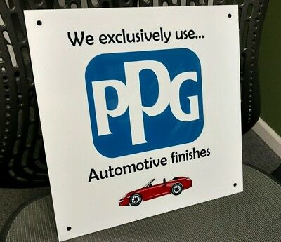 PPG automobile car automotive paint sign