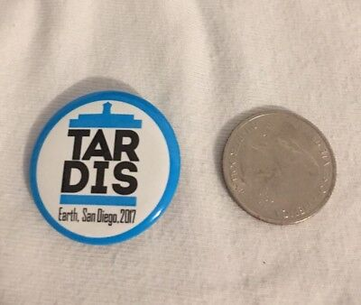 SDCC 2017 Exclusive Doctor Who TARDIS Button Pin BBC AMERICA
