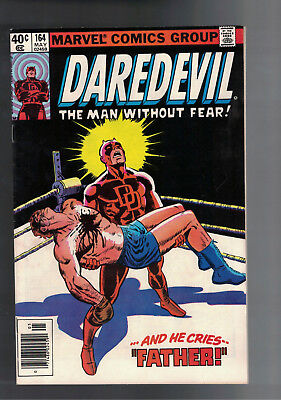 DAREDEVIL #164  VF (8.0) (ORIGIN RETOLD) FRANK MILLER ART Bronze age book.