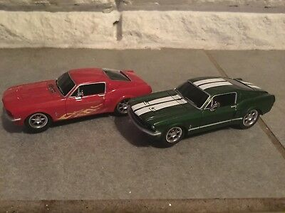 Carrera  1/32 Slot Car Lot Of 2 Ford Mustangs