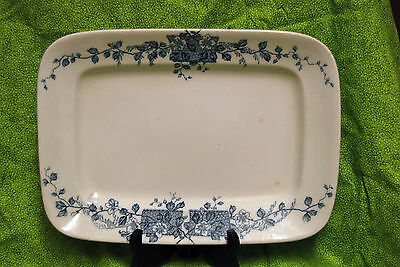 Antique c.1882 W.H. Grindley & Co Flow Blue Platter Dish Pattern England Tray