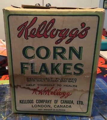 Vintage Kelloggs Corn Flakes Box From London, Canada 8 0z