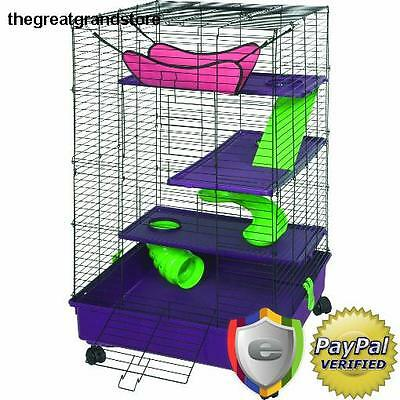 Hamster Cage Small Pet House Hutch Mouse Mice ferrets Habitat Exercise Play Supr