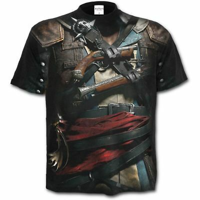 Assassin's Creed T-Shirt Outlaw Gothic Graphic Short Sleeve