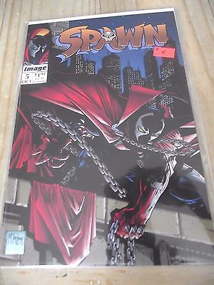 Spawn #5 classic cover contains Spawnmobile poster McFarlane Image VF
