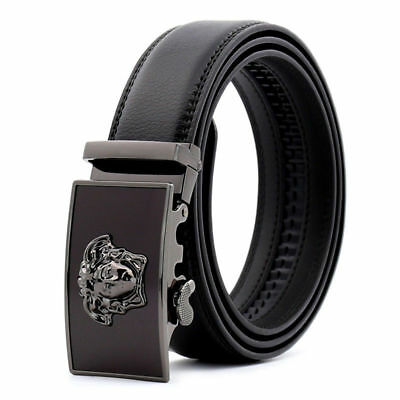 Fashion Casual Luxury Genuine Leather Mens Belt Automatic Buckle Waistband Strap