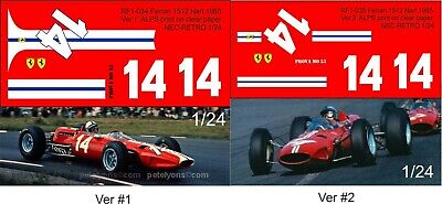 1:24 Decals for Ferrari 1512 NART 1965 Surtees