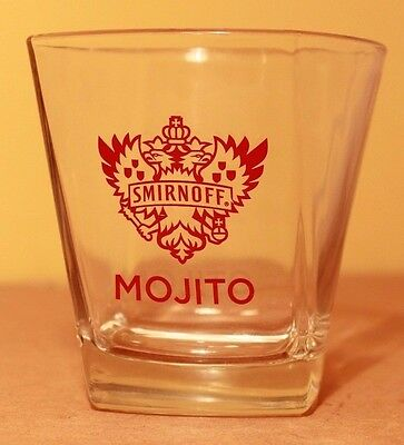 SMIRNOFF VODKA COLLECTIBLE MOJITO TWISTED GLASS  SPIRIT TUMBLER 9.25 cm VGC