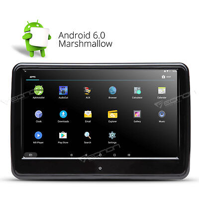 "10.1""Touchscreen Android 6.0 Portable Car Headrest Monitor Headset B WIFI/3G SD"
