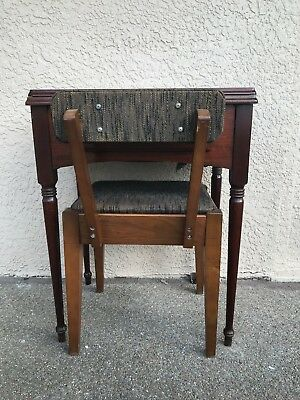 Vintage Walnut Singer Sewing Machine Cabinet, Style 40 comes w stool
