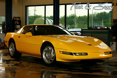 1994 C4 Yellow Corvette Fast & Sexy Poster