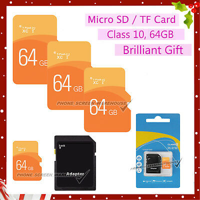 Ultra Micro SD Card SDHC 64GB Class 10 Ultra Memory TF SD  SDHC UHS-1 w/ADAPTER