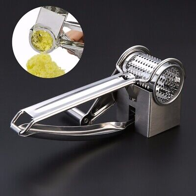New Rotary Cheese Grater 1 Drums Blades Slicer Chocolate Carrot Stainless Steel