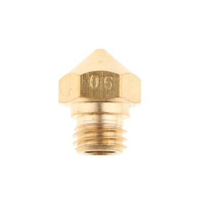 Brass Extruder Nozzle Print Head for MK10 Makerbot 1.75mm 3D Printer 0.6mm