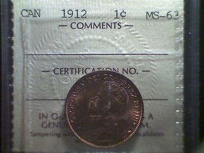 1912 Canada Large Cent ICCS MS-63