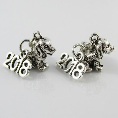 Chinese Zodiac 2018 Year of the Dog Charm Select European Charm or Clip on