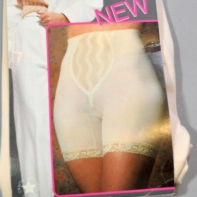 Vintage Subtract Elite Beige Nylon Lace Panty Shaper Mushroom Gusset Size 32