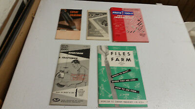 Vintage lot of Tool brochures catalogs-- Stanley, Proto, more  1950's  exc cond.