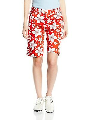 (Size 2 ( 80cm  Waist ), Hawaii Red) - Royal and Awesome Womens Golf Shorts