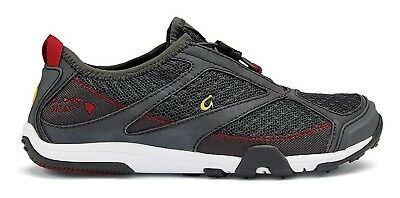 (6 B(M) US, Dark Shadow/Deep Red) - OluKai Eleu Trainer - Women's