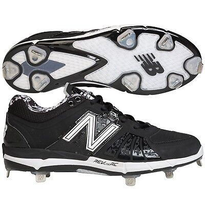 New Balance Mens L3000v2 Low Metal Baseball Cleats White/Green D 7.5
