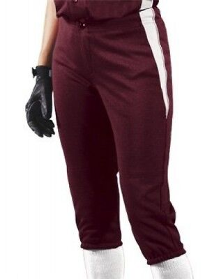 (Small, Maroon/White/White) - Women's Changeup Softball Pant. Teamwork