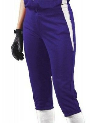 (Large, Purple/White/White) - Women's Changeup Softball Pant. Teamwork