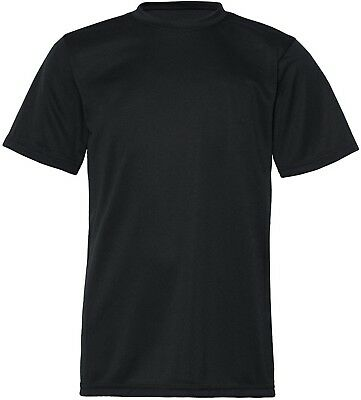 (Large, Black) - C2 Sport 5200 - Youth Short Sleeve Performance T-Shirt