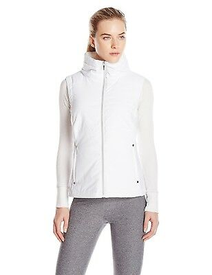 (Small, White) - Cutter & Buck Women's CB Weathertec Claudia Quilted Vest