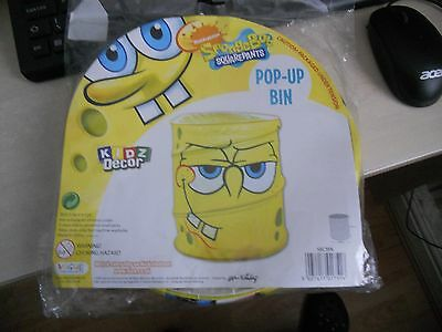 Spongebob Squarepants Concertina Pop Up Bin Tidy Novelty Kidz Decor Storage