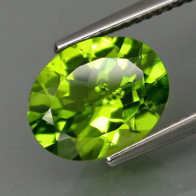 3.33Ct.Ravishing Color! Shimmering Lustrous Natural Green Peridot Pakistan