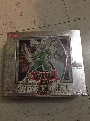 Yugioh Enemy Of Justice Booster Box 1St Edition 24 Packs Pk Brand New Sealed