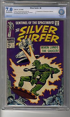 Silver Surfer # 2 - CBCS Graded 7.0 Off-white Pages