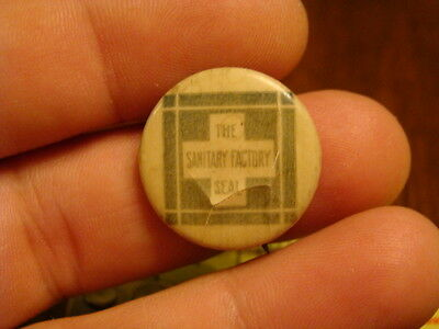 DAIRY CARTON PINBACK BUTTON The Sanitary Seal