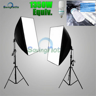 PHOTO Studio 2X135W EASY Soft Box Continuous Lighting Softbox Light Stand KiT-AU