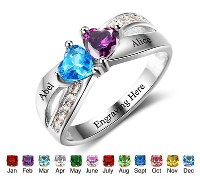 Personalised Promise Ring Engagement Anniversary Love Ring