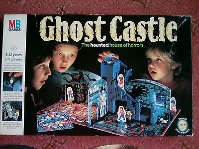 Ghost Castle MB Games Boxed Board Game Vintage 1985 COMPLETE