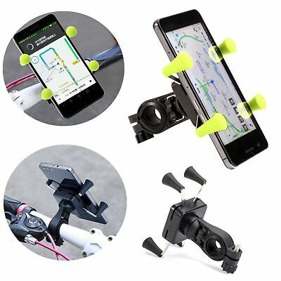 Cycling Motorcycle Bike Handlebar Clamp Mount Universal X-Grip Cell Phone Holder