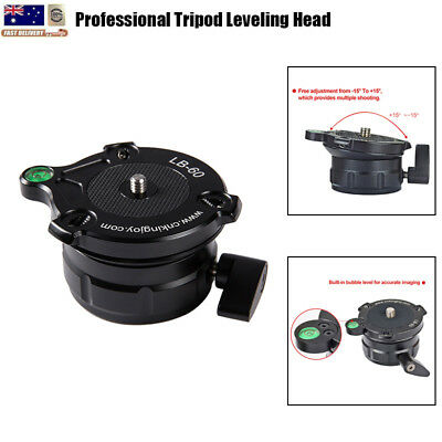 LB-60 Professional Tripod Leveling Ball Head Base Bubble Level For Monopod DSLR