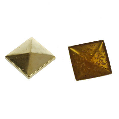 100 Stuecke 10 mm DIY Punk Art Pyramide Bolzen Naegel Punk Nieten Gold K5L2