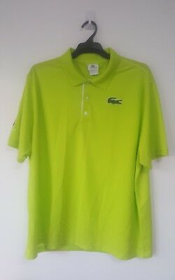 Authentic Lacoste Bright Green Australian Open Tennis Short Sleeve Polo Size Xxl