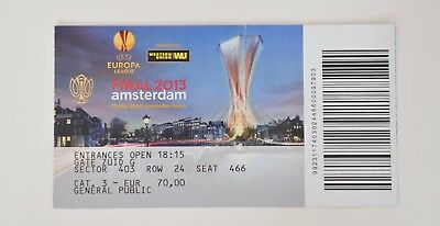 Ticket EUROPA LEAGUE FINAL 2013  BENFICA LISABON vs CHELSEA LONDON