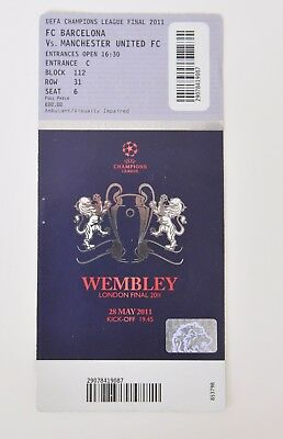 Ticket CHAMPIONS LEAGUE FINAL 2011 FC BARCELONA vs MANCHESTER UNITED