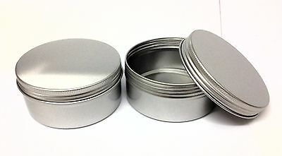 12 x 150ml Aluminium Metal Pot container,screw on lid - crafts, candles, Empty