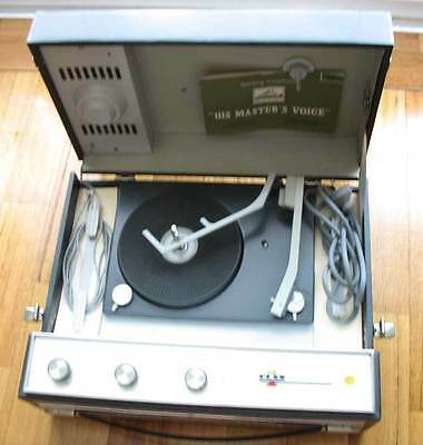 Vintage HMV Bahama Stereophonic Record Player - portable antique turntable, Melb